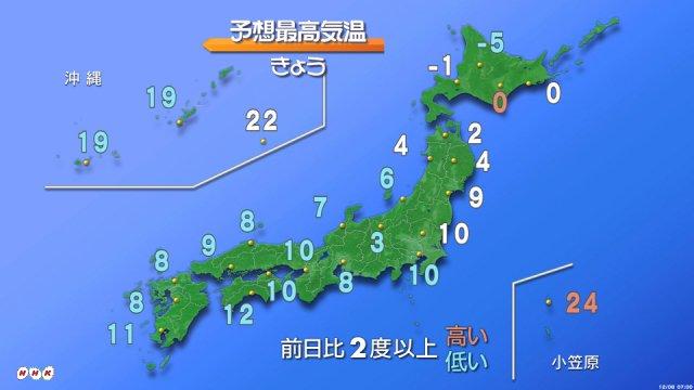 【きょうの天気は?】雨や雪が降る所が多いでしょう。山陰から北陸は雨か雪、東北の日本海側は雪か雨になり…