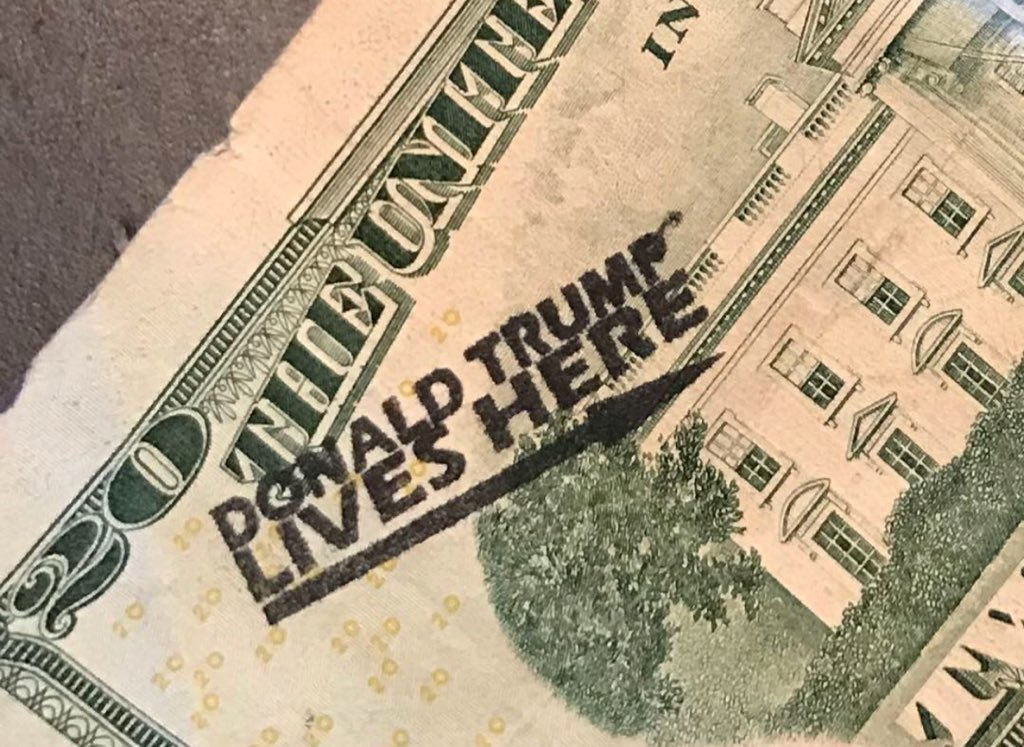 My buddy just got this as change. A sure fire way to scare liberals from capitalism! Too funny!!! #maga #money #shade #troll #humor