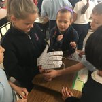 Robotic hands are a success!! Loved how these 4th graders worked as a team to create the robotic hands! Loved this mystery on the workings of our bones, joints, tendons, and muscles. #mysteryscience #humanmachine #peace