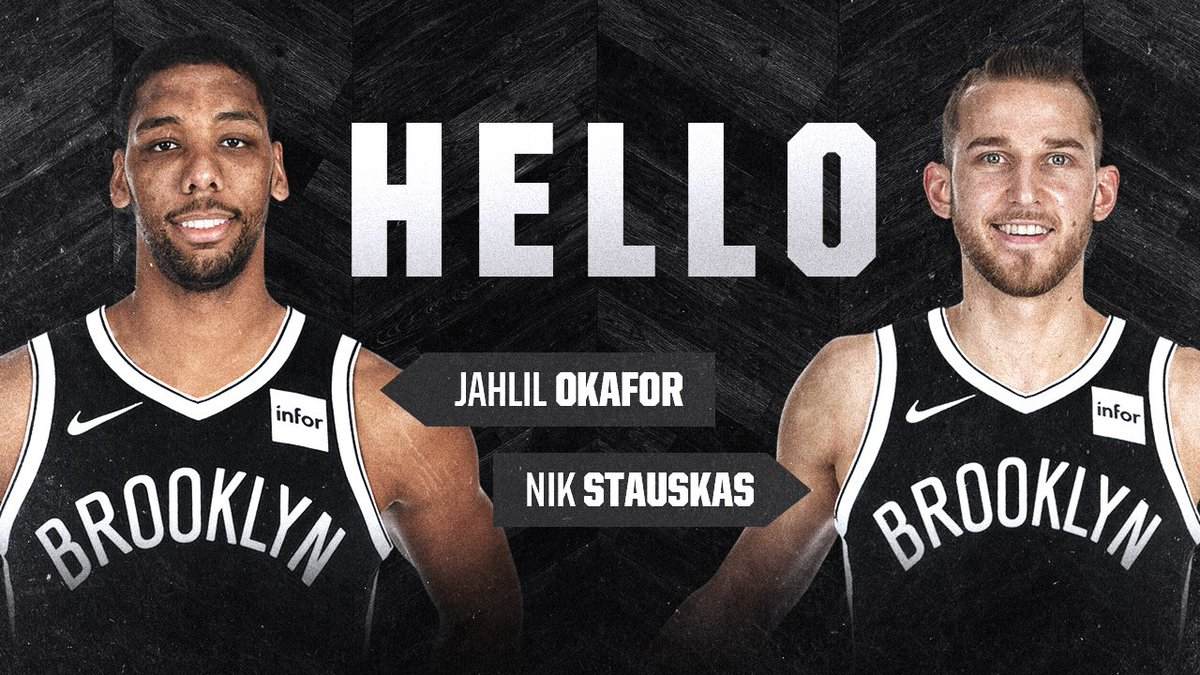 The #Nets have acquired Jahlil Okafor, Nik Stauskas and a 2019 second-round pick from the 76ers in exchange for Trevor Booker  More Info » https://t.co/hzZllfraNy