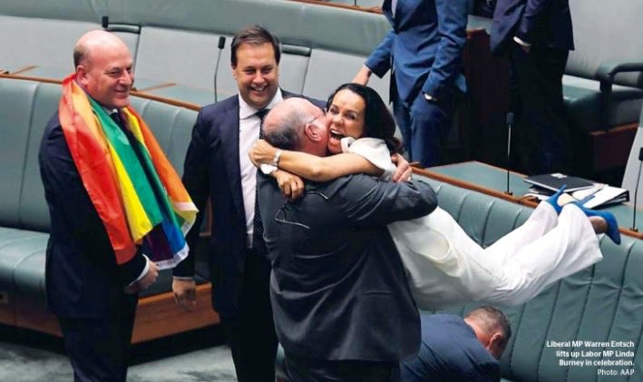 How beautiful is this photo! Captured the joy of a historic moment in parliament. #SSM2017 #LoveWins
