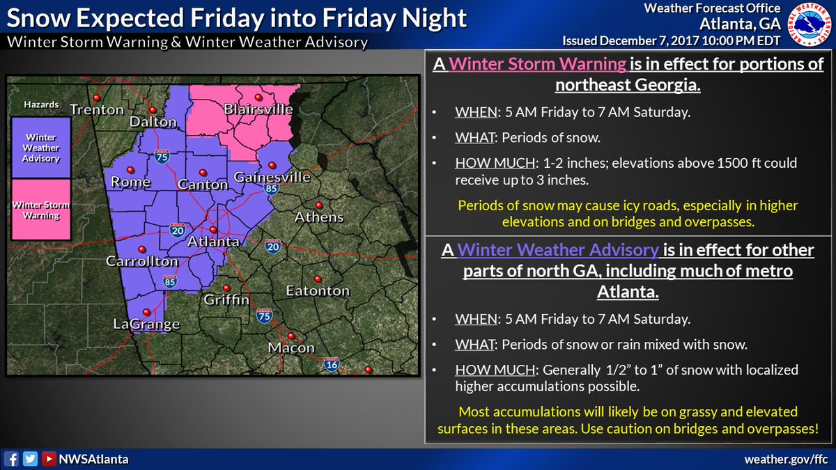 nws atlanta on twitter