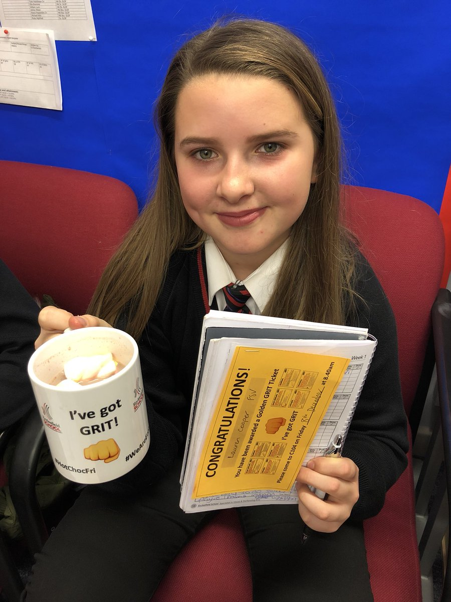 """When asked, they told us """"We never give up"""" and """"Although I find speaking German hard, I still put my hand up and have a go"""" Students enjoyed a hot chocolate during mentor time and a letter home. #recognition Well done to all  Thanks to @PivotalEd for the idea! Brilliant <br>http://pic.twitter.com/5hOK7RyYTy"""