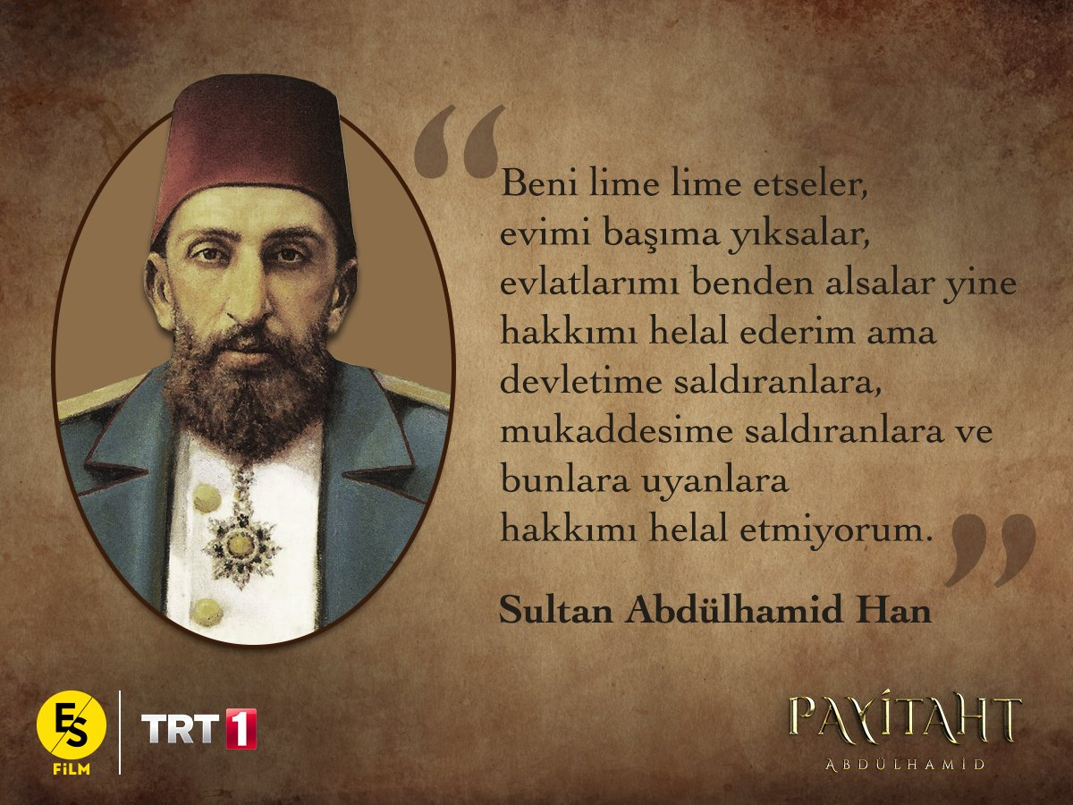 RT @PayitahtEsFilm: Hayırlı Cumalar! #PayitahtAbdülhamid yeni bölüm bu akşam 20:00'de @TRT1'de! https://t.co/He7alyWOu9