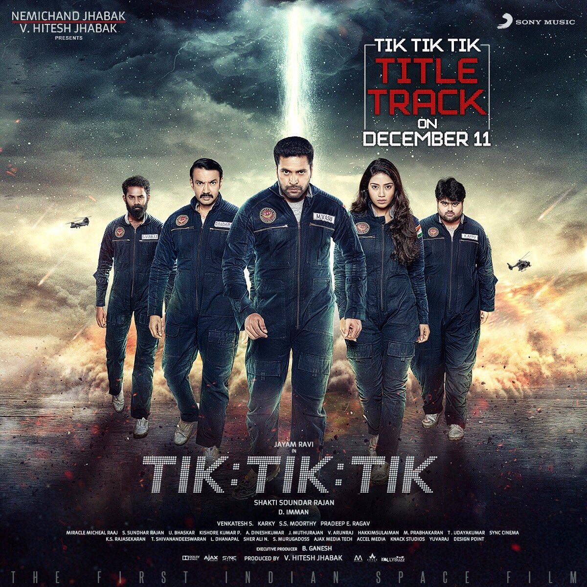 #TikTikTikTitleTrack from December 11th! Stay Glued! @actor_jayamravi @NPethuraj @ShaktiRajan @JabaksMovies @thisisysr @iamyogib @SunithaSarathy @madhankarky @SonyMusicSouth Praise God!
