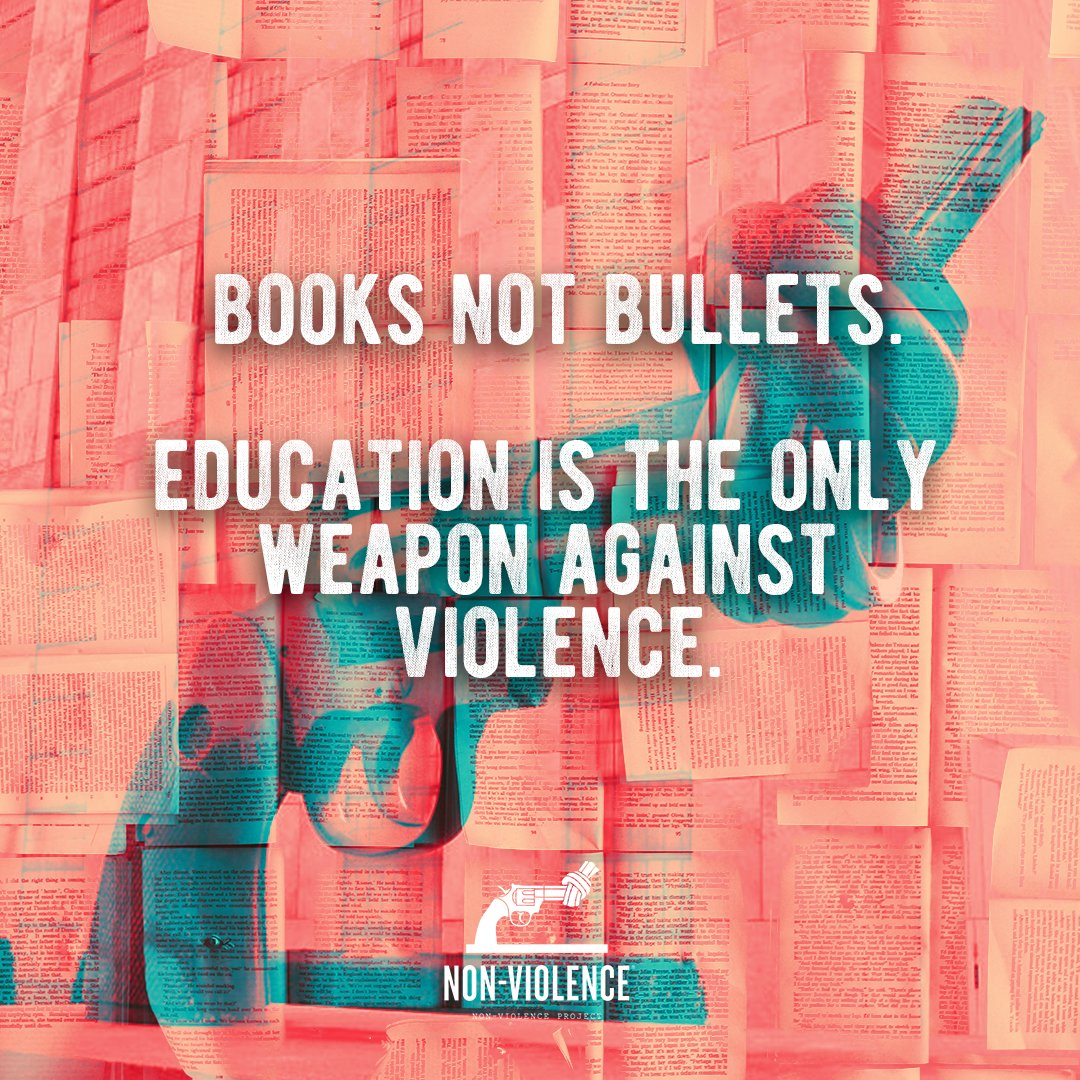 Books not bullets - we can go along with that! #nonviolence #BookPropagators https://t.co/INnMsvECdH