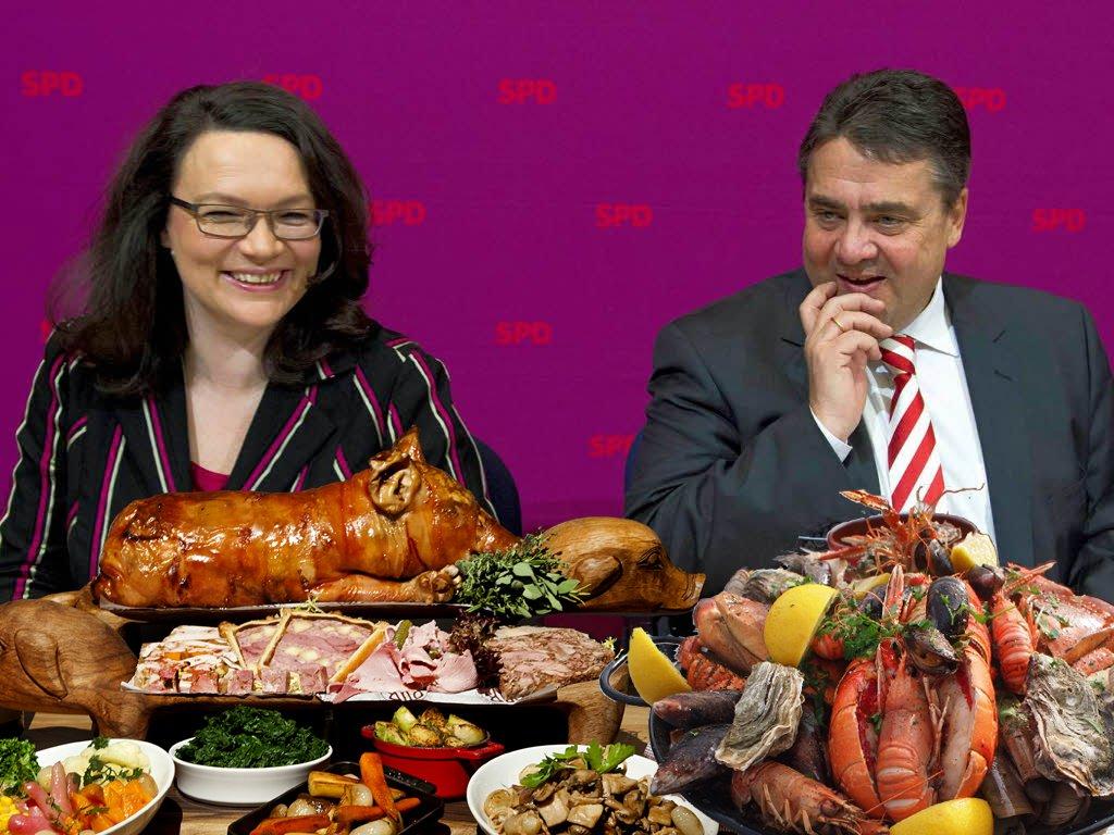 Zurück an die Fleischtöpfe: #SPD stimmt...