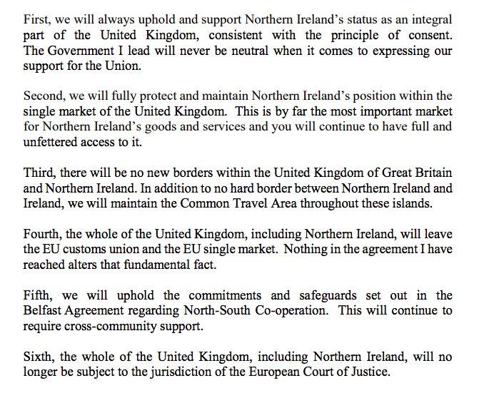 Gavan Reilly On Twitter Theresa Mays Letter To Northern Ireland