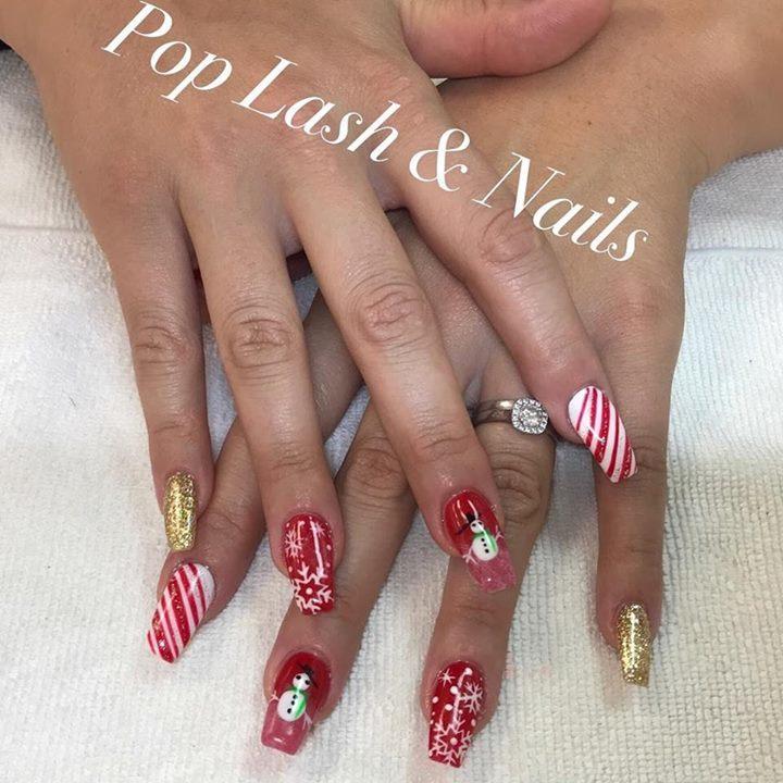 Pop Lash Nails Spa On Twitter Christmas Nails Art Design