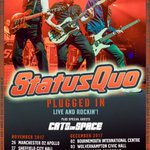 Final show on the 'Plugged In: Live And Rockin'' UK tour from @Status_Quo  at @EventimApollo [Hammy O!] tonight! @CatsInSpaceBand support. Don't miss them, Quo are not touring in 2018...