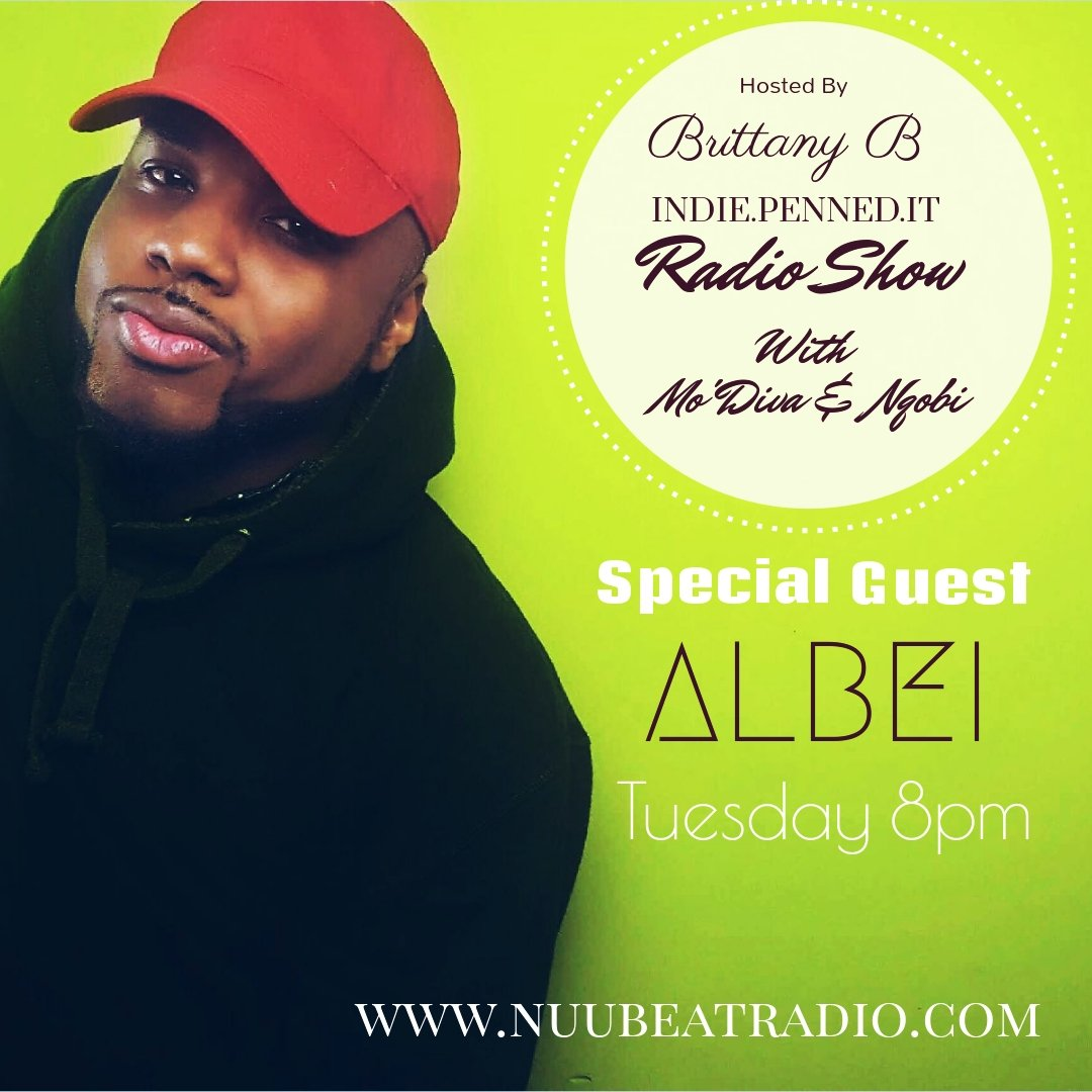 Tuesday  Check Out @_ALBEi  As a Special Guest On @indiepennedit   http:// nuubeatradio.com /     #music #indiemusic #indieradio #indiepenneditradioshow #indiemusic #music #indiernb #rnb  #indieartists  #nuubeatradio #AlBei #dmvmusic<br>http://pic.twitter.com/KLXZnNlz20