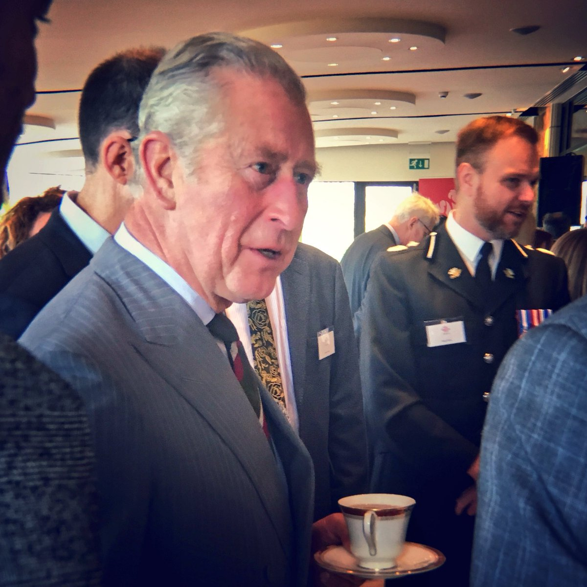 Today, His Royal Highness is in Wales, meeting young entrepreneurs from @PrincesTrustWal.  The Trust has supported 3000 people in Wales over the last 12 months!