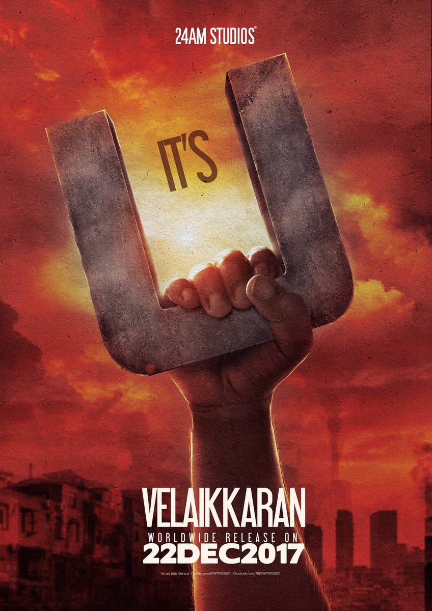 A Story about U A Movie for U Enormous blessings and positivity U shower on us made our #VELAIKKARAN certified U                        @24AMSTUDIOS @Siva_Kartikeyan @anirudhofficial @ragebe1 #Nayanthara