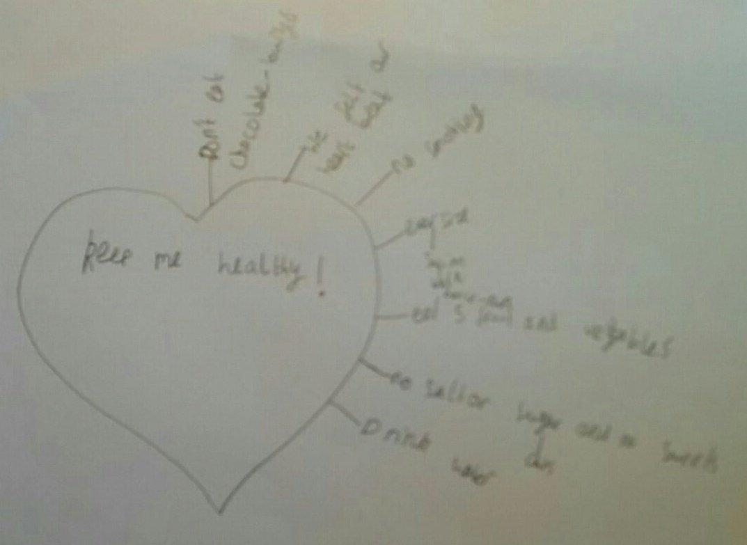 Children in Year 2 at #Balby  Central Primary Academy in #Doncaster show us what they&#39;ve learnt during today&#39;s @heartresearchuk school talk. &quot;Don&#39;t smoke, do exercise and eat 5 fruit and veg a day says Kaine&quot;. We&#39;ll done everyone!<br>http://pic.twitter.com/rswnre0tTl