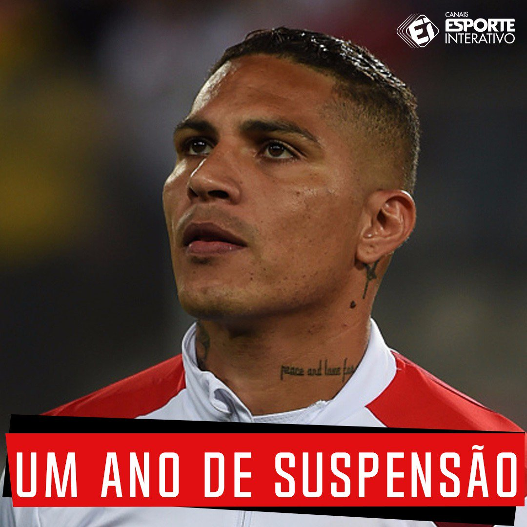 A Fifa anunciou nesta sexta-feira que Paolo Guerrero está suspenso por um ano por ter sido flagrado no exame antidoping nas eliminatórias da Copa do Mundo.