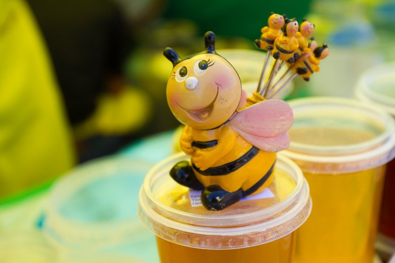 Днем, картинка с пчелами и цветами смешные