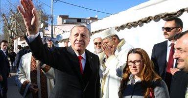 Αναχώρησε για την Τουρκία ο Ερντογάν – Τι είπε  στην Κομοτηνή – Τα μηνύματα και η σημαία