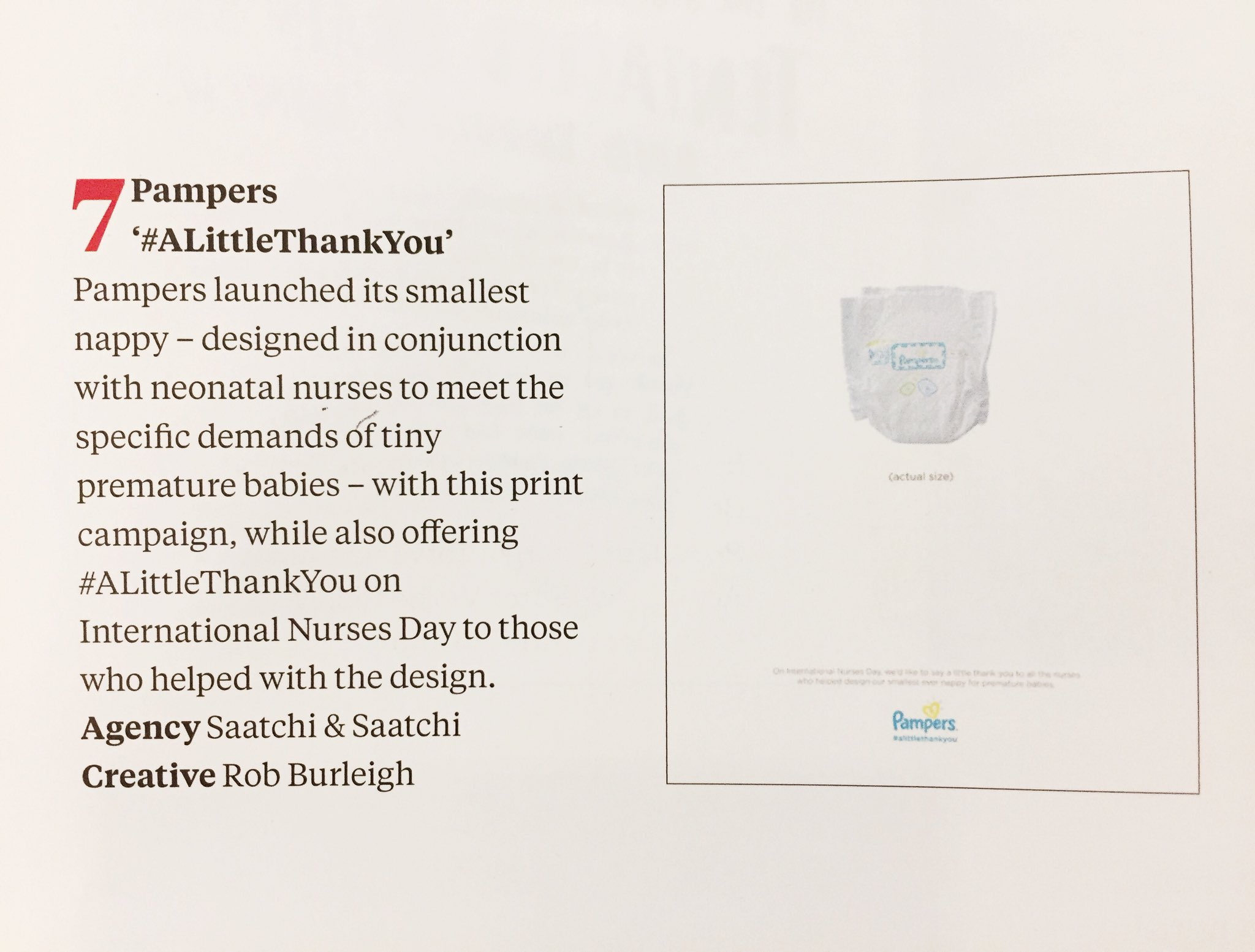 Ending the week on a high with our work for @Pampers in @Campaignmag's Top 10 2017 Press Ads #campaignannual https://t.co/MO9WKBVLP4