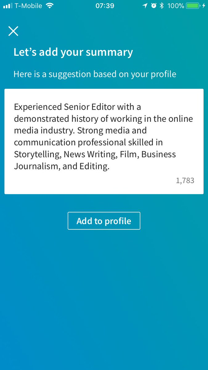 this auto generated linkedin summary for my profile is less a sign of the power of ai than it is of the brain rotting blandness of 99 9 of