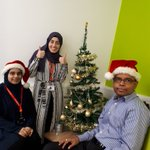 Today's #ChristmasCountdown festive treat is a #MerryChristmas from our amazing admin team Rubina, Merve & Rajan. Without them no research visits would be booked, no study info sent to volunteers and no phones answered. They're the engine room of #TwinsUK! #makingresearchhappen