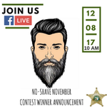 Join Us #LIVE today at 10AM as Sheriff Ric Bradshaw chooses the winner of the best beard for our #NoShaveNovember campaign that raised over $188,000 to @LittleSmiles_FL