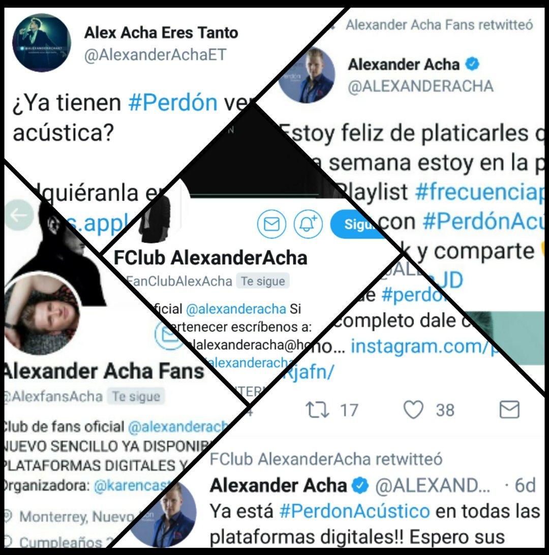 A mis clubs de fans... Gracias, por tanto cariño y apoyo! 🙃 #PerdónAcústico #AlexanderAcha