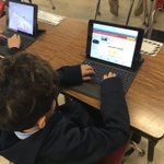2nd graders are learning to type with TWO hands!