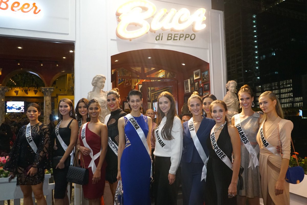 Beauty queens + spaghetti = 😍😍😍. Thank you @bucadibeppo for the generous donation to #Change4hope and the delicious food!