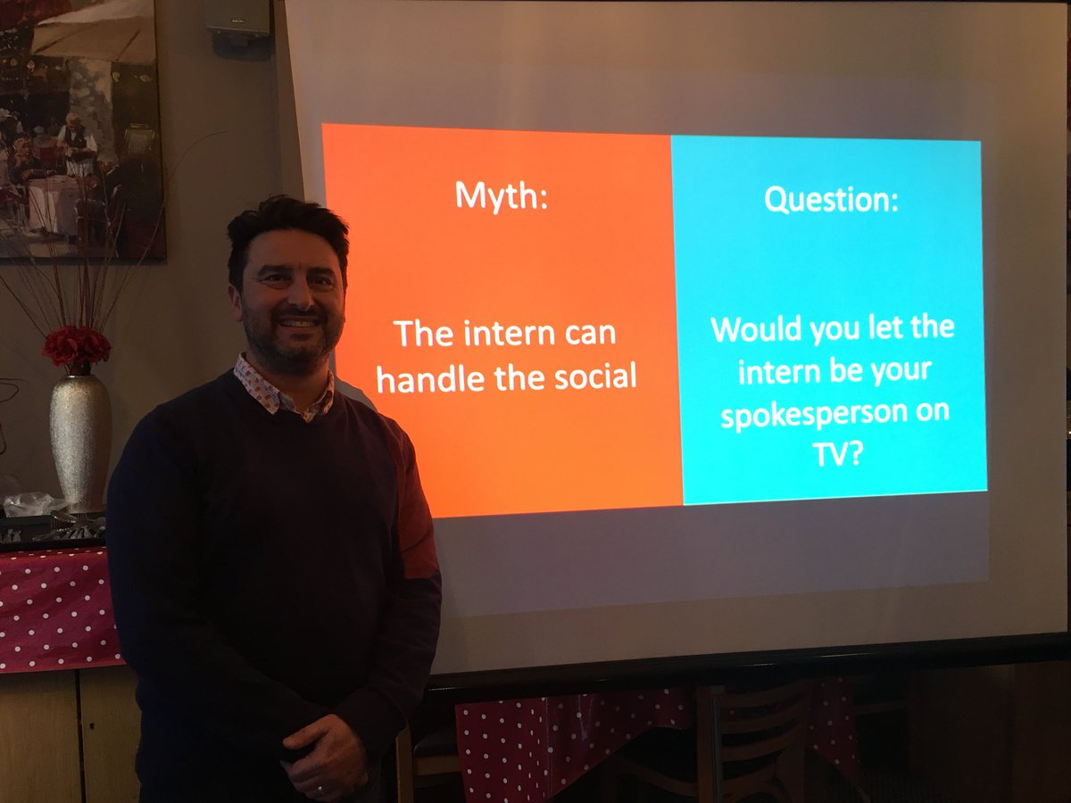 Top social media tip from Nigel @export4growth. Get someone you can trust to speak for your business if that's on TV or social! #TownTakeover <br>http://pic.twitter.com/3Wxi12GrD1
