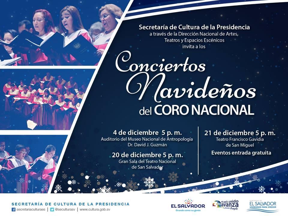 Conciertos navideños del Coro Nacional de El Salvador