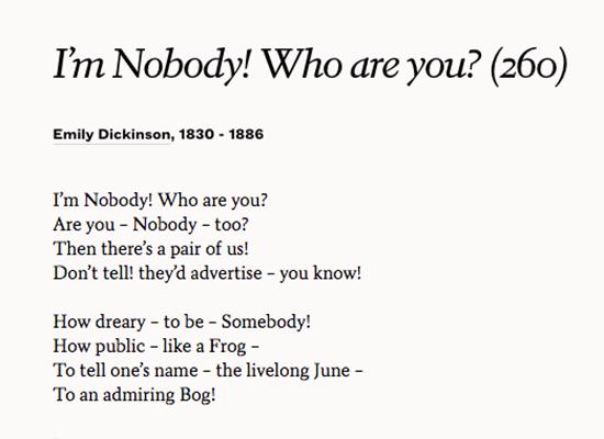 i m nobody poem