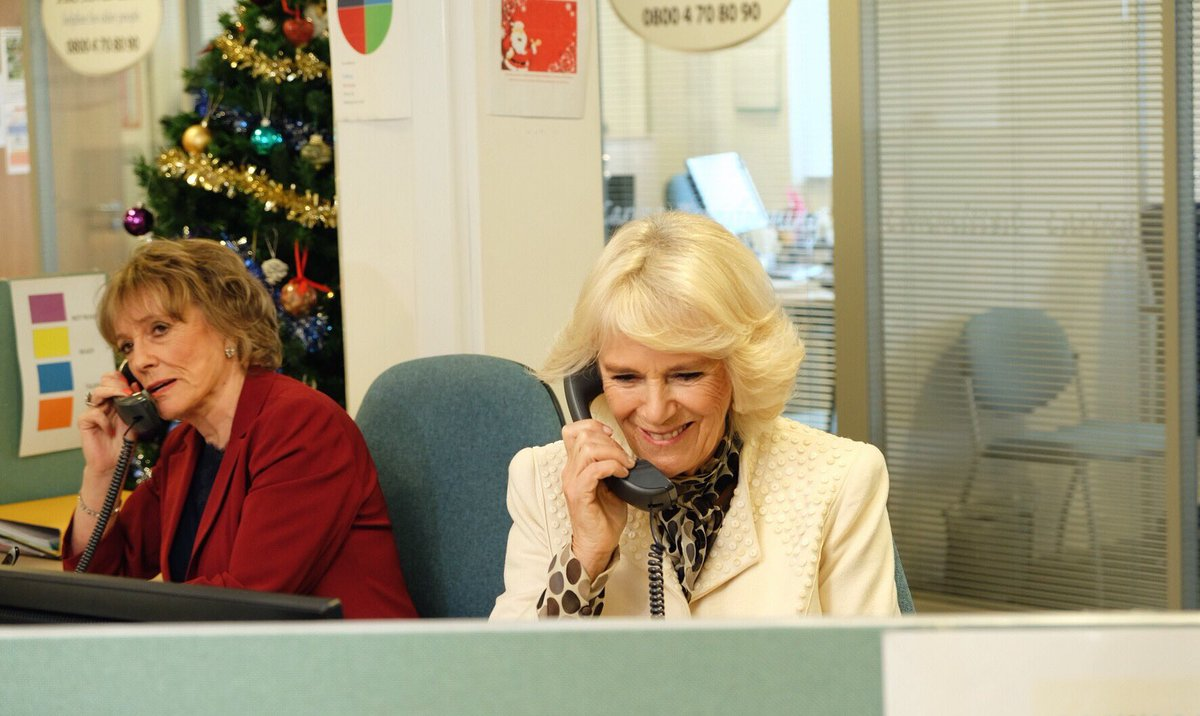 The Silver Line helpline supports isolated older people by offering 24/7 advice, friendship or just a confidential chat.  HRH joined the charity's founder, Dame Esther Rantzen, on the phones and chatted to a regular caller, Betty.