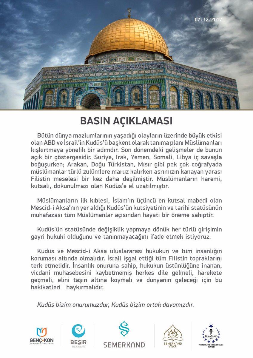 #MüminlerinBaşkentiKudüs https://t.co/jx...