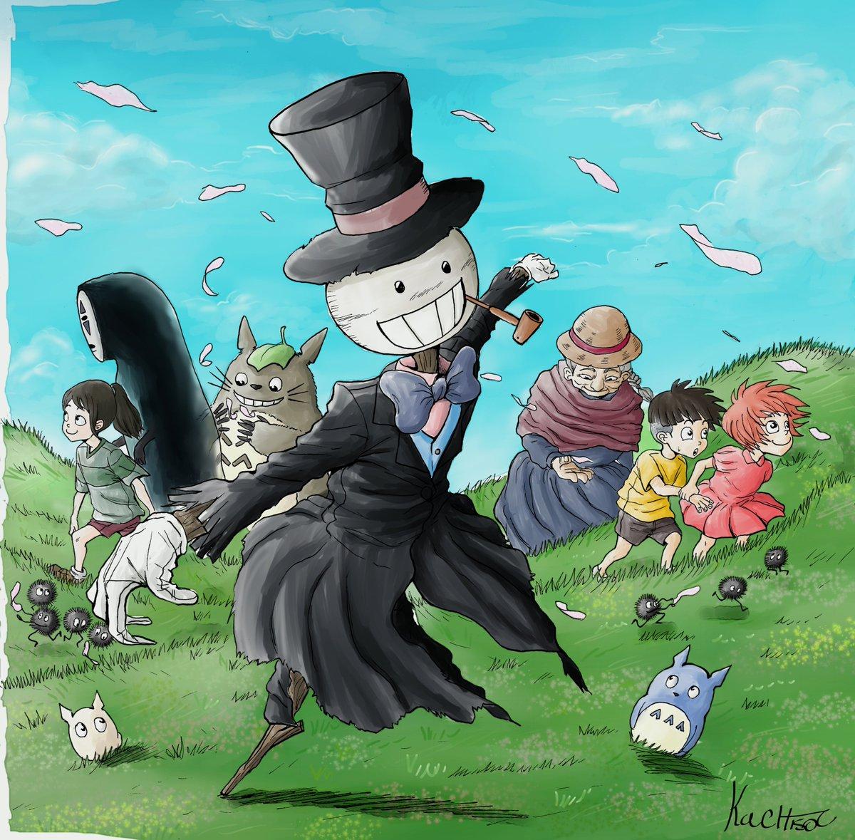 I&#39;m a big fan of Hayao Miyazaki, so it was a honor to draw his characters. I hope you guys liked it!  #fanart #studioghibli #となりのトトロ #千と千尋の神隠し #崖の上のポニョ #ハウルの動く城 #rt #myart<br>http://pic.twitter.com/Cw2ecK6dtM