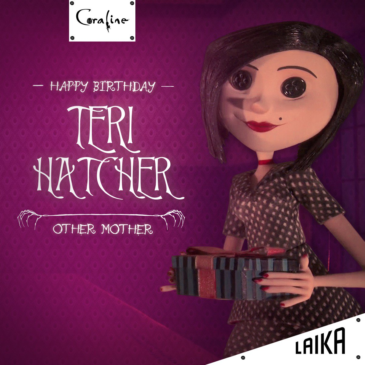 Laika On Twitter Hatchingchange Gave Life To Coraline S Mom Other Mother And Beldam With Just One Extraordinary Voice To Honor Her Birthday We Were Going To Sew Buttons Into Our Eyes But We