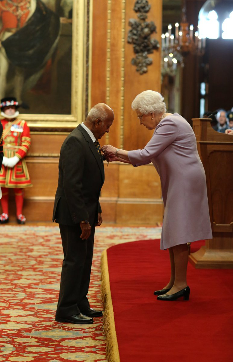 Also receiving an #MBE for services to humanitarian aid was Vernon Udugampola who set up the Sylvia International Relief Foundation (SIRF) which provides sponsorship for aid after natural disasters.
