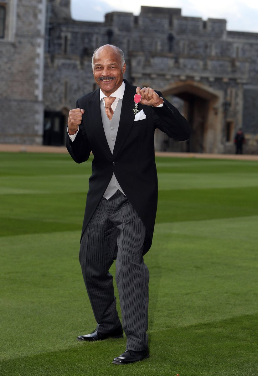 Former multi light-heavyweight boxing champion John Conteh received an #MBE from The Queen for his services to boxing.