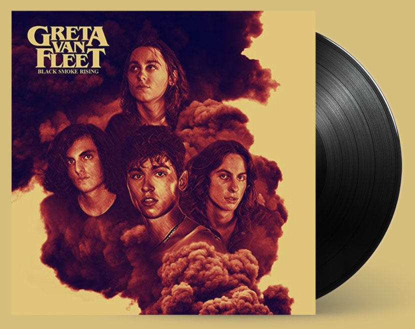 Image result for greta van fleet album cover black smoke rising