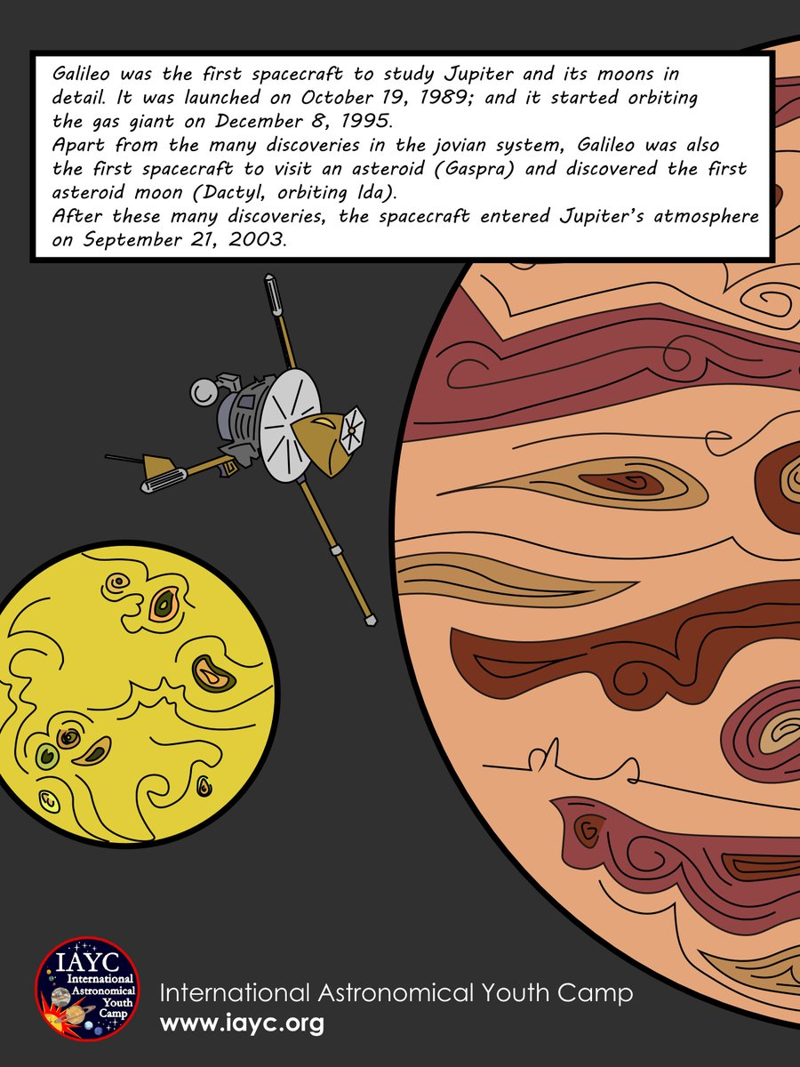 International Astronomical Youth Camp Galileo Spacecraft Space Probe Diagram Started Orbiting Jupiter Otd In 1995 It Revealed Many Mysteries About Jupiters