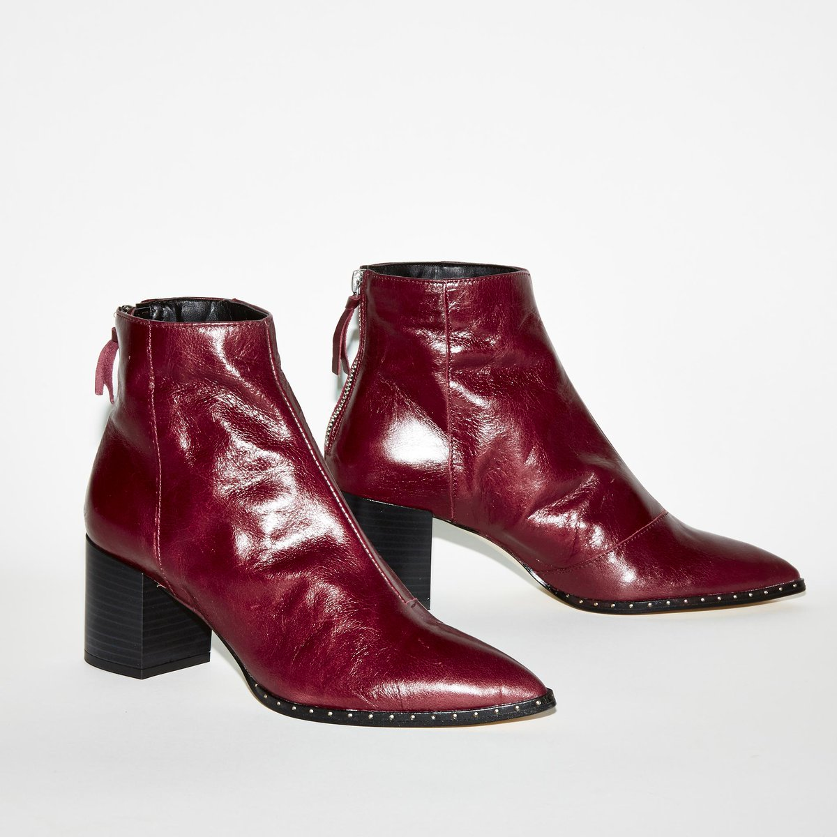 Aromatic Pointed Block Heel Boots In Burgundy Leather Are One Of Our Favourites Ownit2017 Http Bit Ly 2kcwnca Pic Twitter Fbvsq2cabt