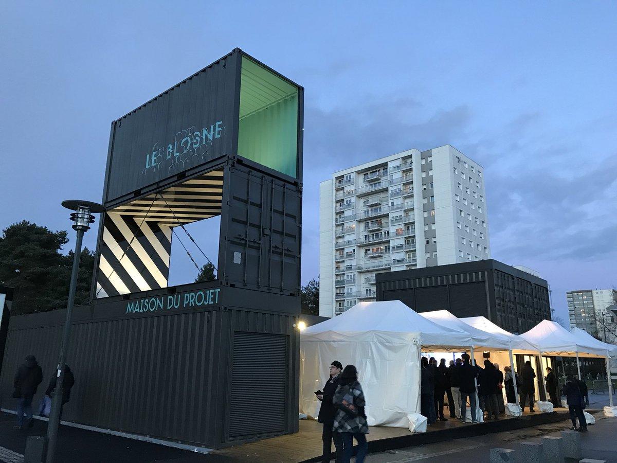 """Maison Rennaise destiné nathalie appéré on twitter: """"le #blosne a sa maison du projet"""