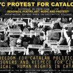 🙋♀️ Aquest dissabte, Nova York també alçarà la veu per la llibertat dels presos polítics i en defensa dels drets humans 🎗 Amb @nycatalonia i @ANC_USA reclamarem tots junts la #Llibertat