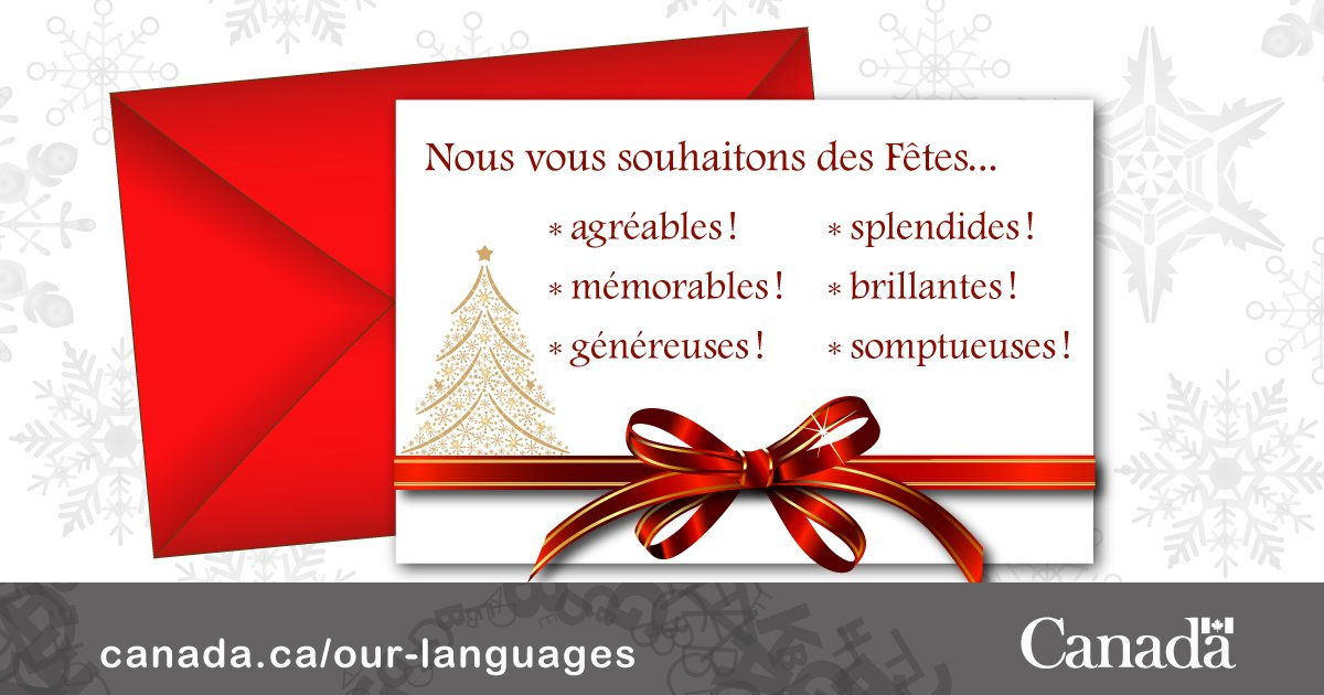 Language portal of canada on twitter writing holiday greetings in language portal of canada on twitter writing holiday greetings in french for greater originality try some out of the ordinary adjectives m4hsunfo