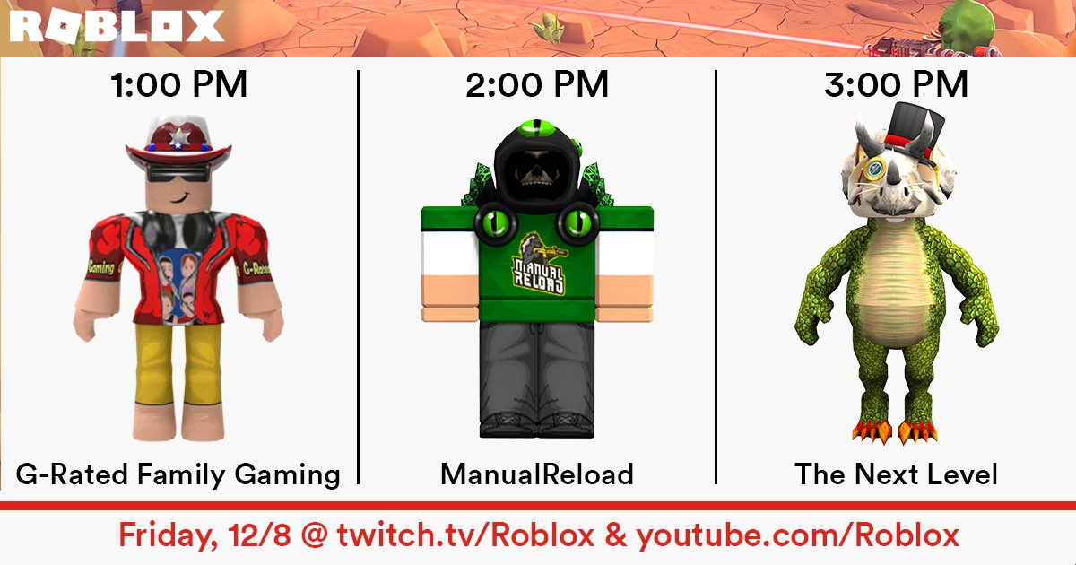Roblox On Twitter Start Your Friday With Roblox Guest Streams