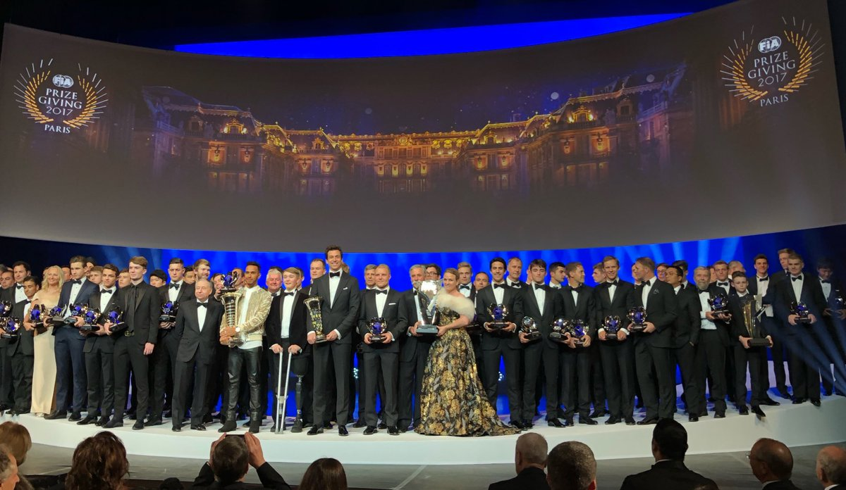 All #champions @FIA 2017 awards @ Versailles