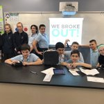 All three 8th Grade science classes were successful in the #breakoutedu challenge today in class! #carbonconundrum #mrslongscience #criticalthinking
