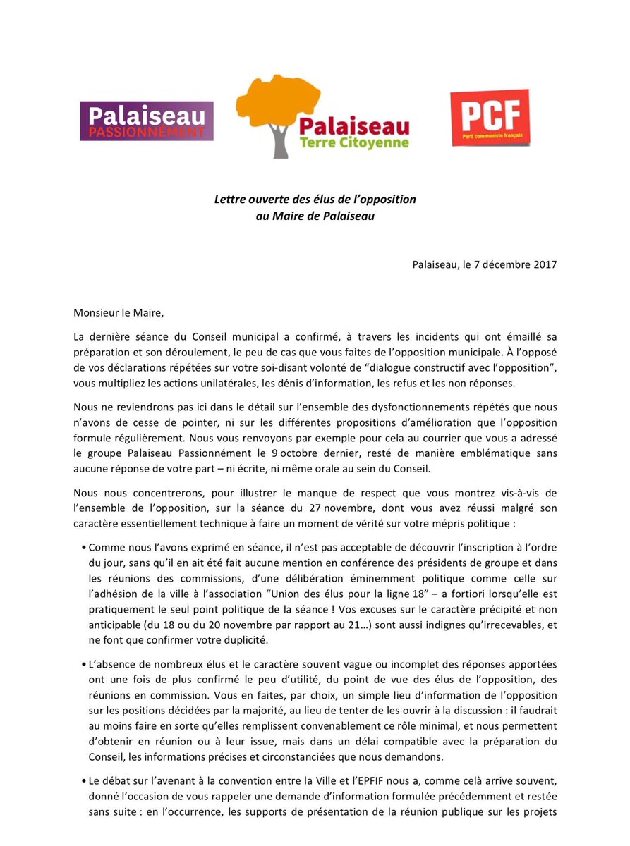 Lettreouverteaumaire Hashtag On Twitter