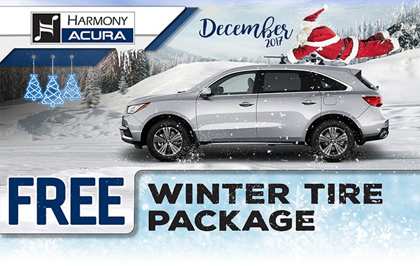 Harmony Acura On Twitter Get A Free Winter Tire Package When You - Harmony acura