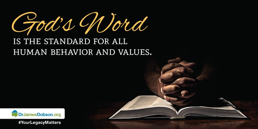 God&#39;s Word is the standard for all human behavior and values. #TrustGod <br>http://pic.twitter.com/6KOgiJgL3Y