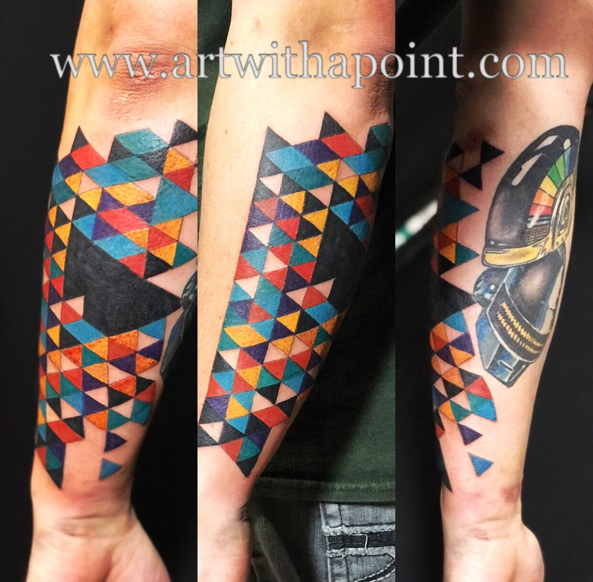 Awen Briem On Twitter Fresh Ink Custom Colorful Geometric Coverup